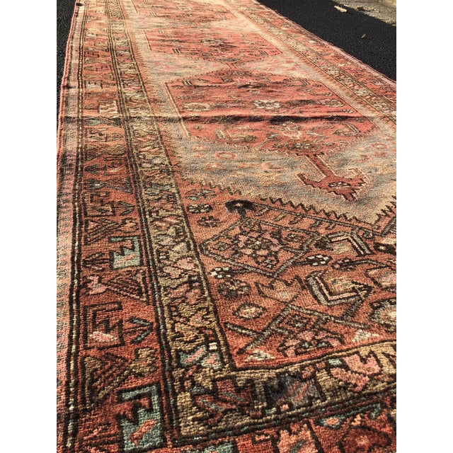 Islamic 1940s Vintage Persian Hosenibad Runner Rug - 3′7″ × 10′2″ For Sale - Image 3 of 12