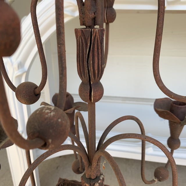 Cinnamon 1950s Neoclassical Metal Planters With Candelabras - a Pair For Sale - Image 8 of 13