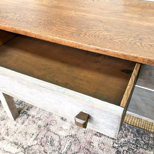 1900s Mission Solid Oak Writing Desk For Sale In New York - Image 6 of 13