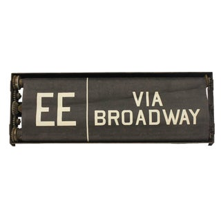 Early 20th Century Vintage New York City Train Destination Sign For Sale