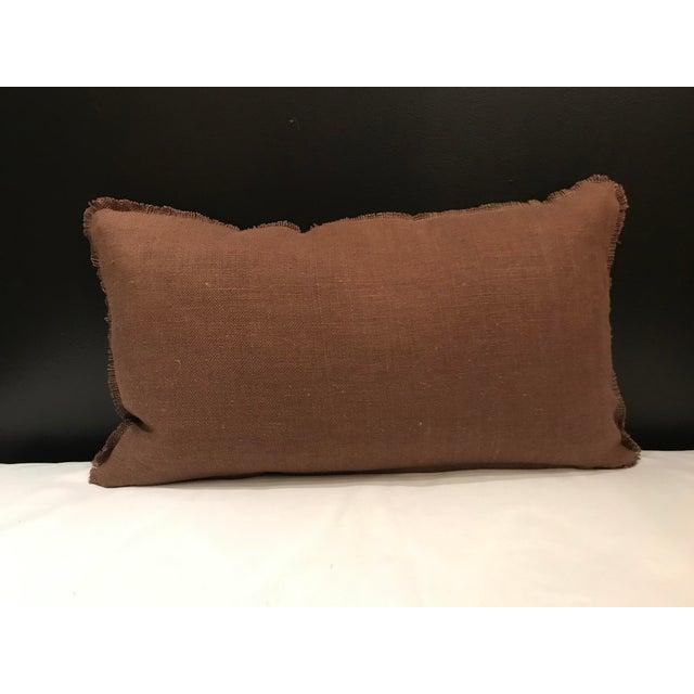 Feather Safari Linen & Cotton Applique Cheetah Pillow For Sale - Image 7 of 9