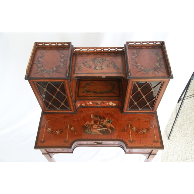 19th Century Federal Hand-Painted Secretary Desk For Sale - Image 9 of 12