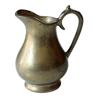 Vintage 1960s Heavy Weight Brass Pitcher For Sale