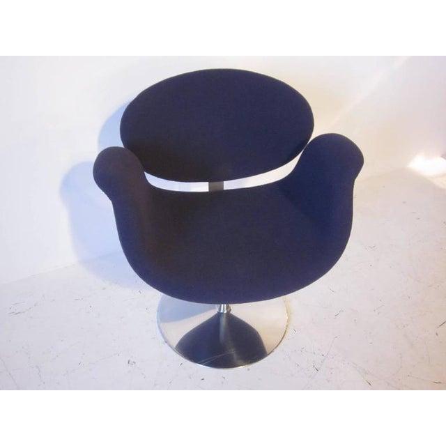 Chrome Pierre Paulin Op Art Sculptural Swiveling Armchair For Sale - Image 7 of 7