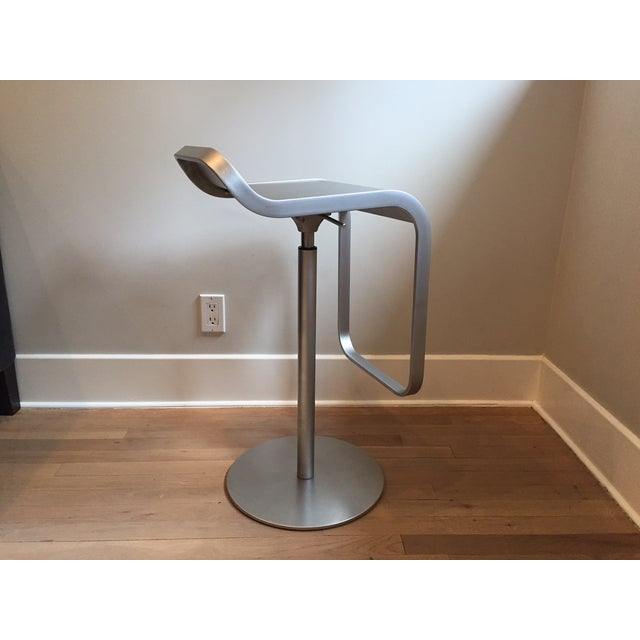 LEM Piston Stainless Steel Bar Stools- Set of 3 For Sale In New York - Image 6 of 6
