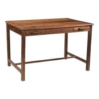 Vintage Colonial Teak Desk For Sale