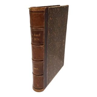 "1887 German Art Book ""Die Kunst Fur Alle"" by Freidrich Vedst For Sale"