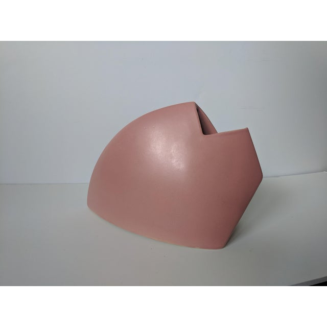 Orange Set of 2- 1980s Modernist J Johnston Sculptural Vessels For Sale - Image 8 of 12