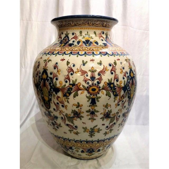 Original Estate Portugese Garden Urn, Circa 1950's. For Sale - Image 4 of 4