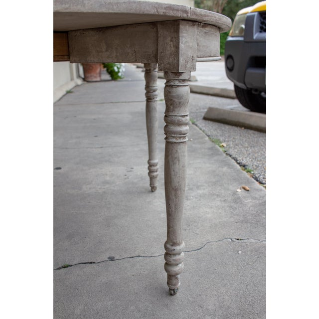Late 19th Century Antique French Demi-Lune Console For Sale - Image 10 of 13