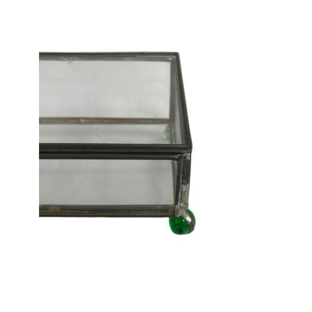 Rectangular Glass Box on 4 Marble Feet - Image 6 of 8