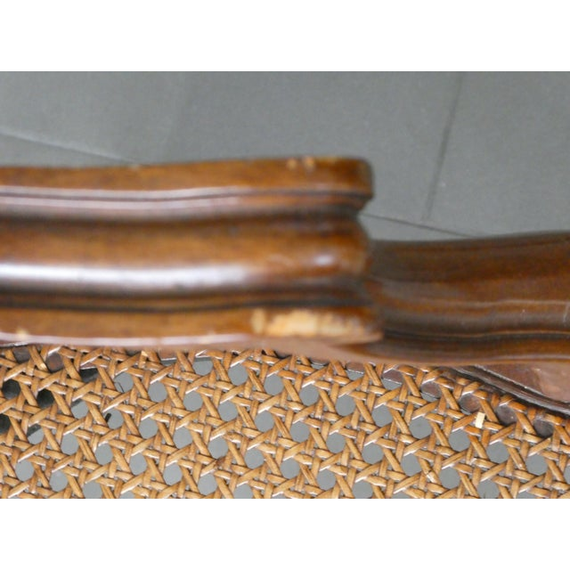 Reproduction Louis XV Walnut Caned Dining Chairs - Set of 8 - Image 9 of 10
