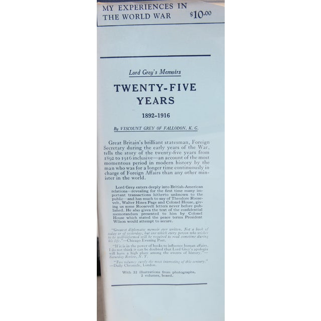 """Traditional 1931 """"My Experiences in the World War Vols. I & Ii"""" Collectible Book For Sale - Image 3 of 6"""
