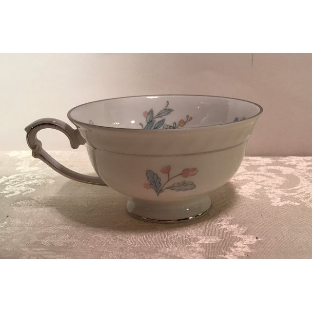 White Mid-Century Bavarian China Cups & Saucers For Sale - Image 8 of 11