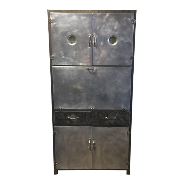 Vintage 1920's Industrial Metal Cabinet - Image 1 of 10