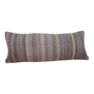 Vintage Gray Kilim Pillow Cover For Sale