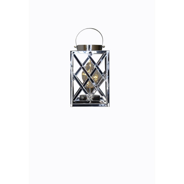 Lantern Led Silver Cube For Sale In Los Angeles - Image 6 of 6