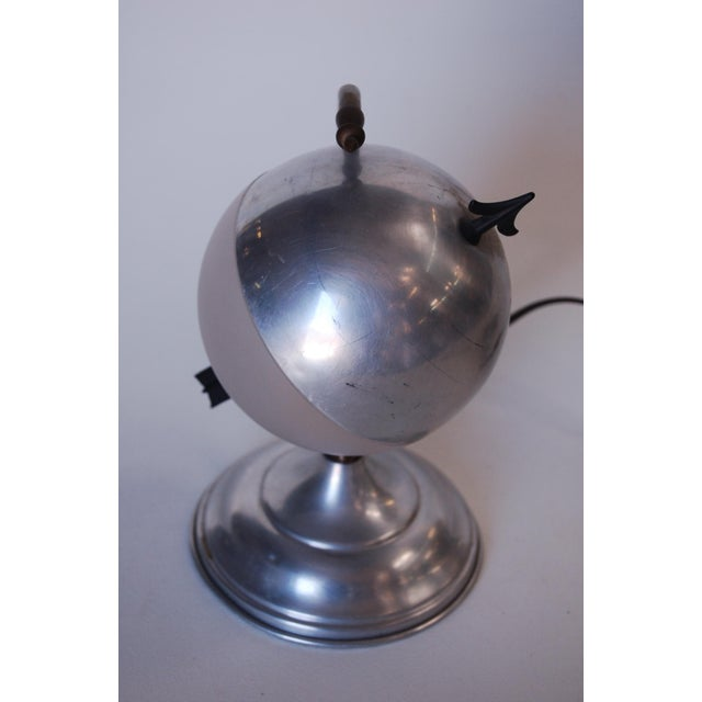 "Art Deco Art Deco Aluminum Globe ""Saturn"" Swiveling Table Lamp For Sale - Image 3 of 8"