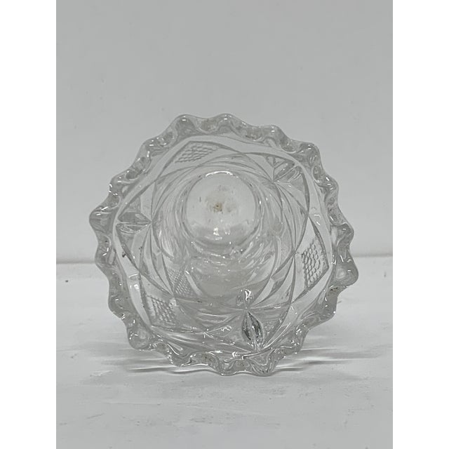 Vintage Hand Cut Crystal Petite Vase For Sale In New York - Image 6 of 7