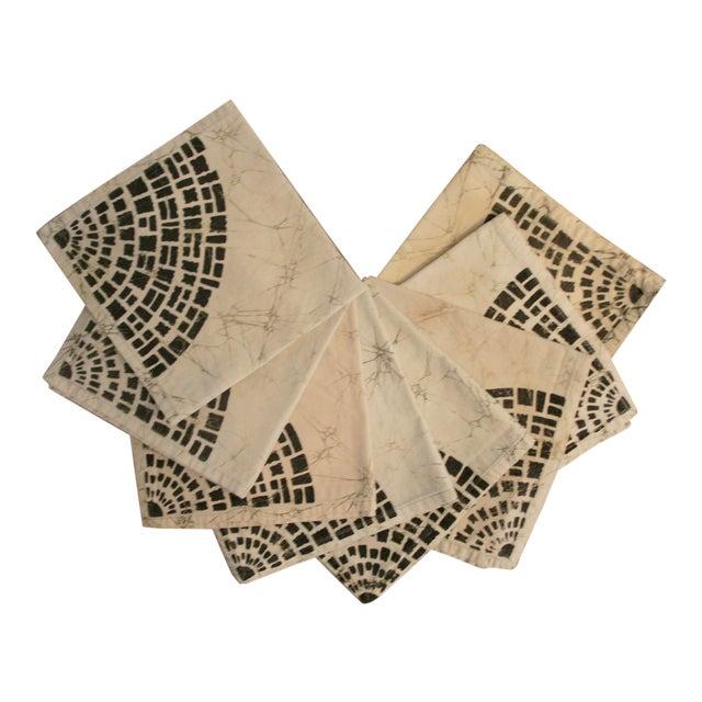 Bohemian Batik Dinner Napkins - Set of 8 For Sale