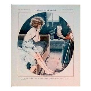 """Maurice Millière 1923 """"L'Amour Et La Raison"""" La Vie Parisienne Print"""