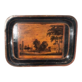Early 19th Century Yale College Tole Tray For Sale