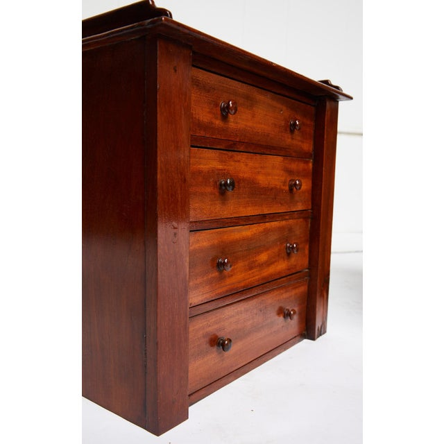 Pair of Petite English Mahogany Chests For Sale - Image 9 of 10