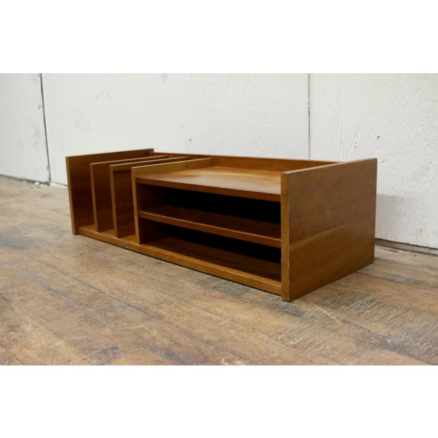 Mid-Century Modern Mid Century Pedersen & Hansen Danish Desk Caddy Letter Tray Organizer 1960s For Sale - Image 3 of 8