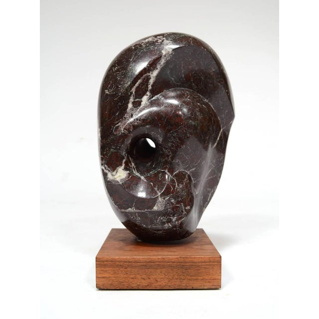 White Abstract Marble Sculpture in the Manner of Barbara Hepworth For Sale - Image 8 of 11
