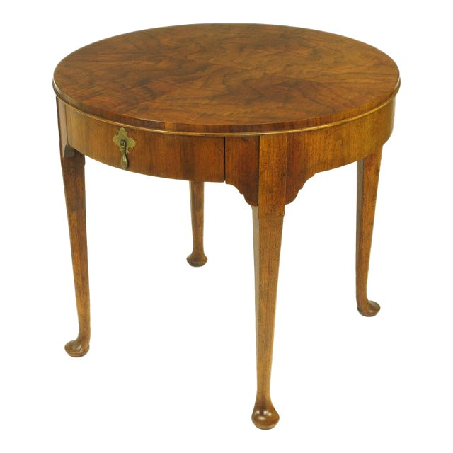 "Baker Furniture ""Milling Road"" Figured Walnut Regency Side Table - Image 1 of 10"