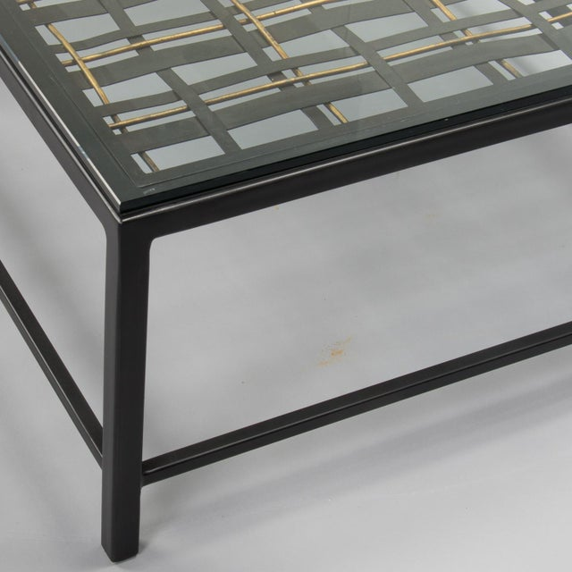 Custom Coffee Table Made from French Decorative Metal Grill For Sale - Image 4 of 9