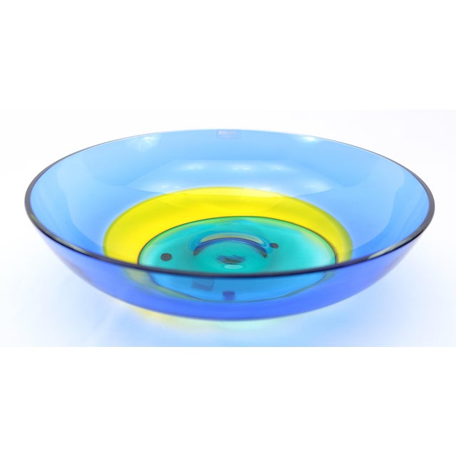 Glass Italian Multicolor Murano Glass Bowl by Barbini For Sale - Image 7 of 7