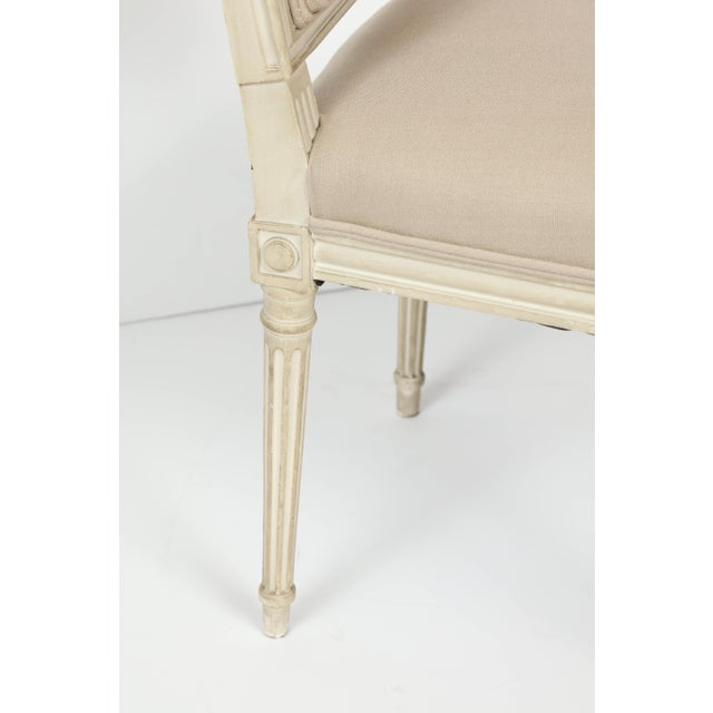 Mid 20th Century Louis XVI Style Dining Chairs - Set of 6 For Sale - Image 5 of 8