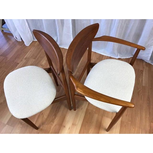 Set of 7 Uncommon Hvidt and Mølgaard-Nielsen Teak Dining Chairs for Søborg Møbelfabrik - Image 7 of 10