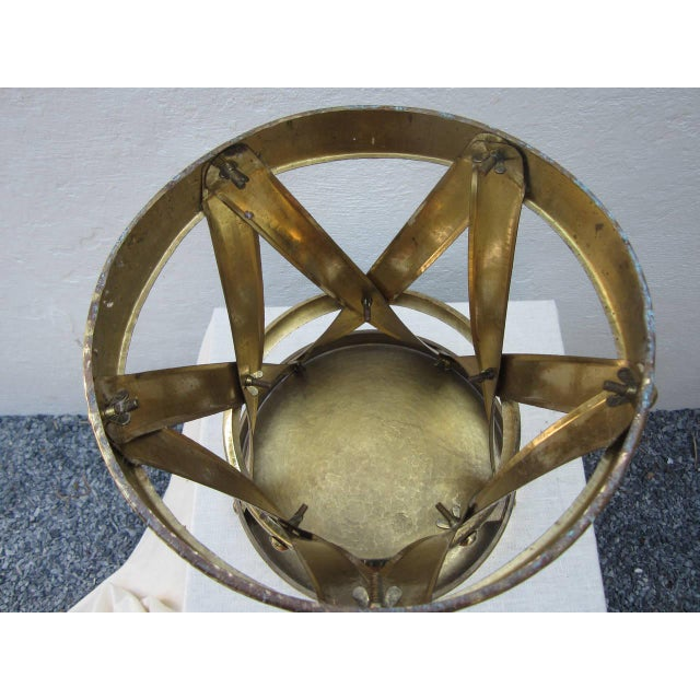 Mid 20th Century Modern Brass Stool or Table For Sale - Image 5 of 6