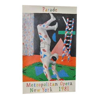 "Vintage ""Parade"" NY Metropolitan Opera Poster"