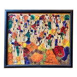 Image of Vintage Mid-Century Haitian Oil Painting For Sale