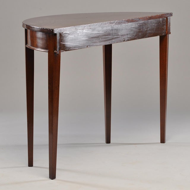 Wood English Mahogany Demi Lune Tables - a Pair For Sale - Image 7 of 13