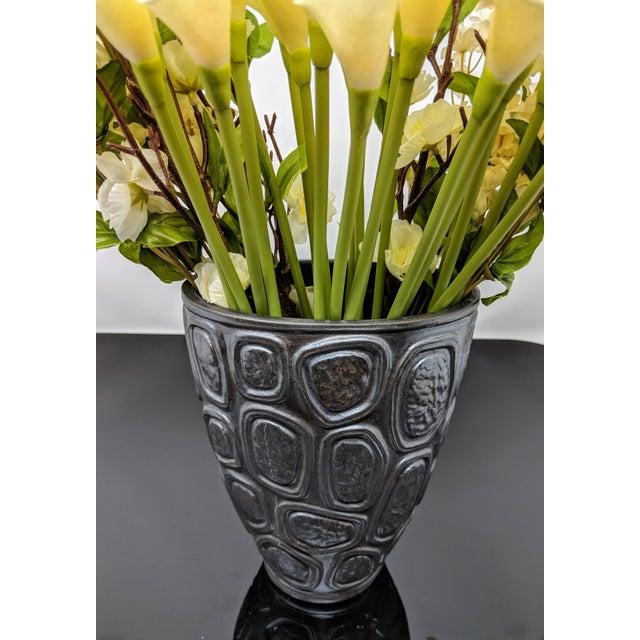Ceramic Jonathan Adler Windowpane Brutalist Vase For Sale - Image 7 of 12