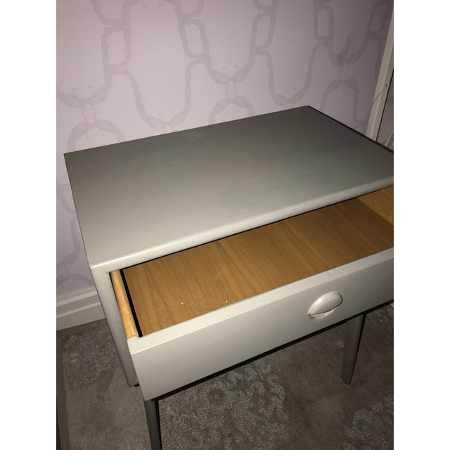 Gray Pair of Mid-Century Teak Chelsea Textiles Bedside Tables For Sale - Image 8 of 8