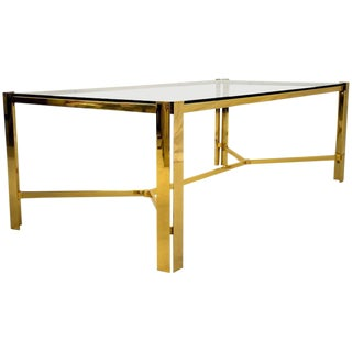 Maison Jansen 1970s Gold Plated Coffee Table