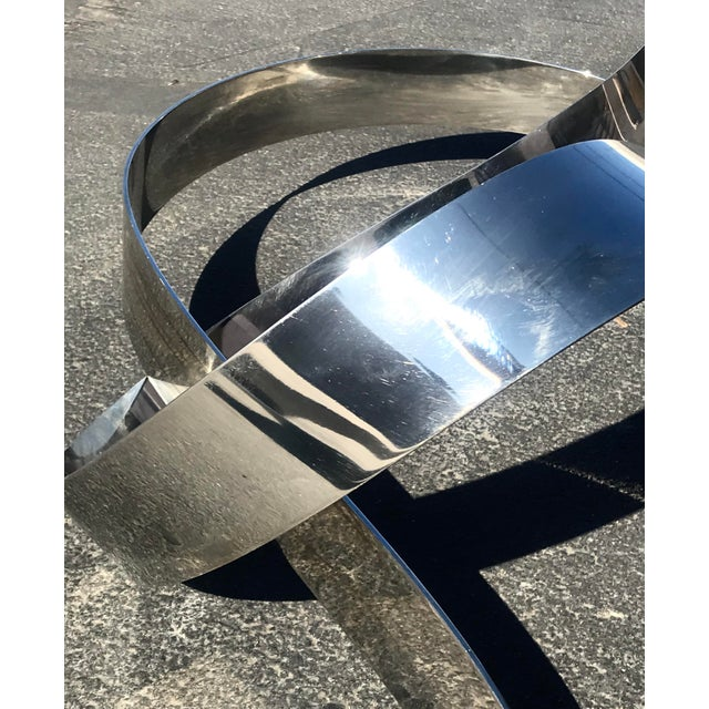 Mid-Century Kinetic Chrome Wall Hanging Sculpture by L. Kelly Gronley For Sale - Image 9 of 11
