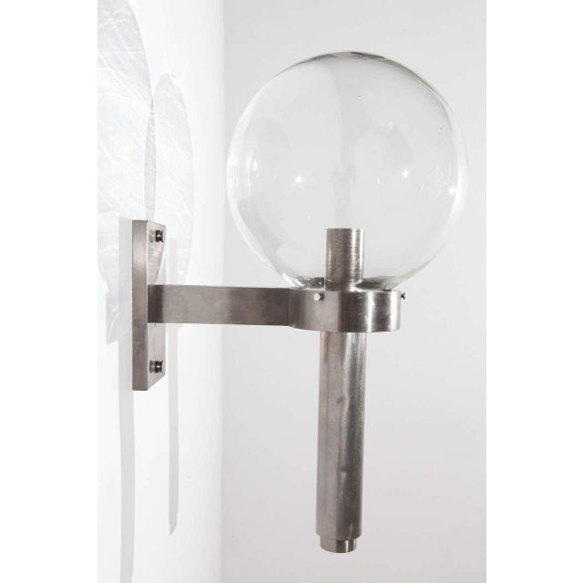 Chrome 1960s Wall Sconce in the Style of Arredoluce For Sale - Image 8 of 8