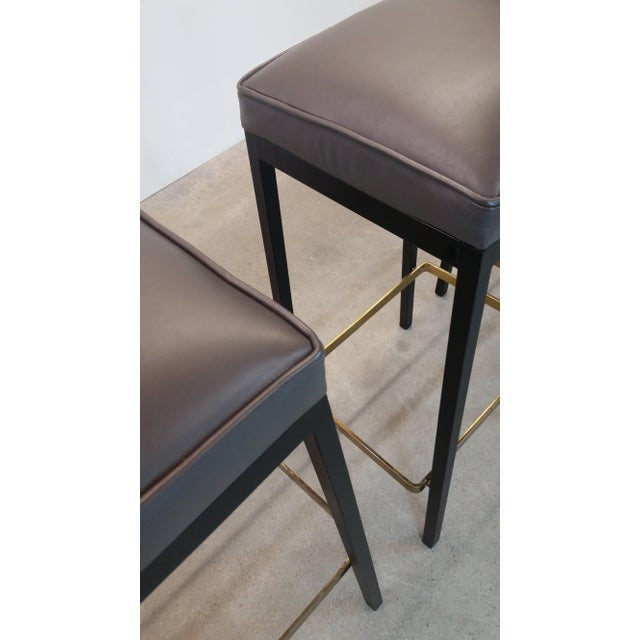 Mid-Century Modern Early Bar Stools by Florence Knoll For Sale - Image 3 of 9