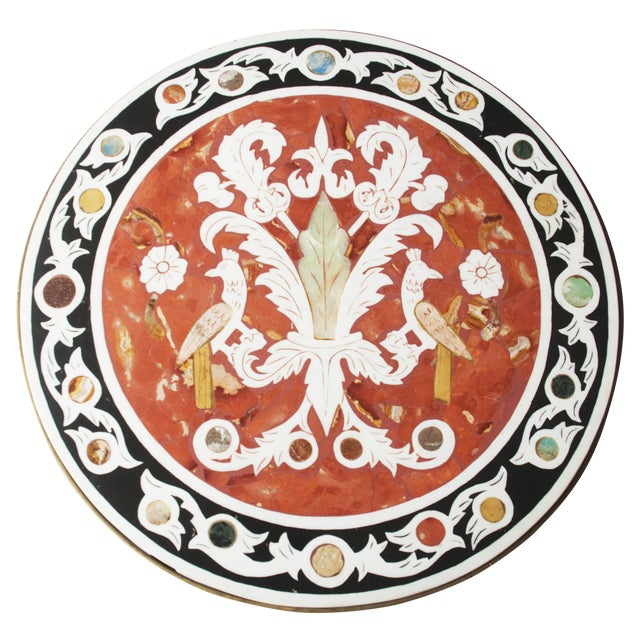 Vintage Pietra Dura Mosaic Side Table - Image 1 of 8