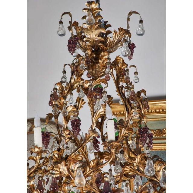 1930s An Elaborate French 1930s Vinegrapes & Drops Chandelier For Sale - Image 5 of 9