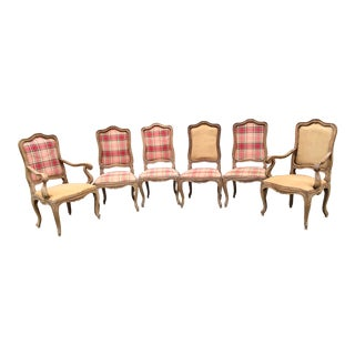 Antique Pine Dining Chairs - Set of 6 For Sale
