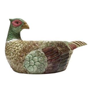 Vintage Pheasant Bowl Fitz Floyd Planter Dish For Sale