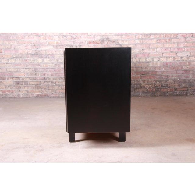Edmond Spence Swedish Modern Ebonized Sideboard Credenza, Newly Refinished For Sale - Image 11 of 13