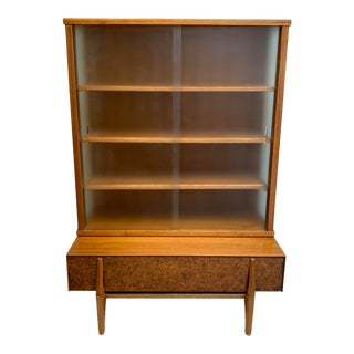 John Keal for Brown Saltman Mid Century Modern Display Cabinet For Sale